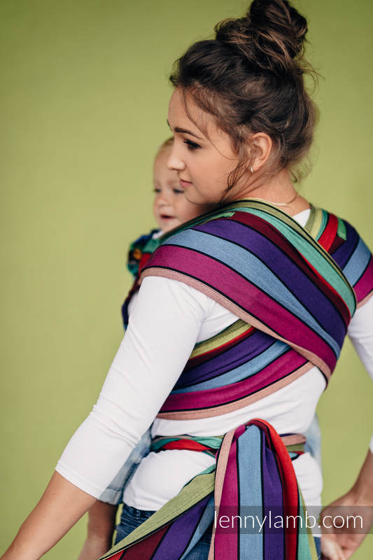 WRAP-TAI carrier Mini, broken-twill weave - 100% cotton - with hood - CAROUSEL OF COLORS #babywearing