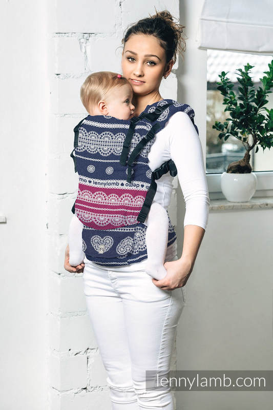 LennyUp Carrier, Standard Size, jacquard weave 100% cotton - FOR PROFESSIONAL USE EDITION - LACE 1.0 #babywearing