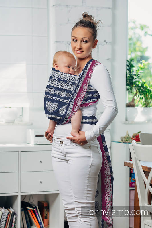 Baby Wrap, Jacquard Weave (100% cotton) - FOR PROFESSIONAL USE EDITION - LACE 1.0 - size M #babywearing