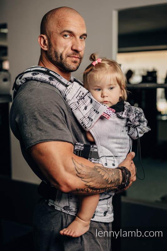 Nosidełko Ergonomiczne z tkaniny żakardowej 100% bawełna , Baby Size, SYMFONIA KLASYCZNA - Druga Generacja #babywearing