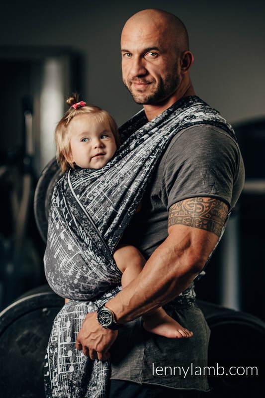 Baby Wrap, Jacquard Weave (100% cotton) - SYMPHONY CLASSIC - size XS #babywearing