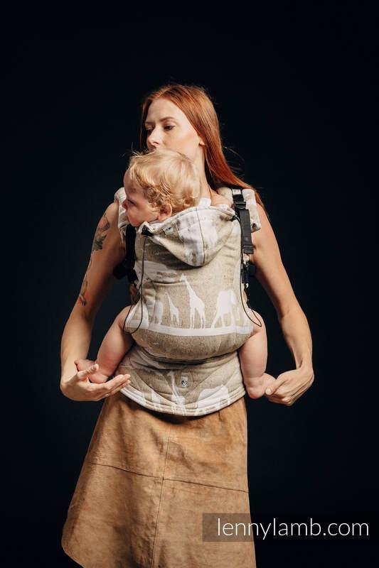 Ergonomic Carrier, Toddler Size, jacquard weave, (49% cotton, 51% silk) - SAFARI - WESTERN DESERT, Second Generation #babywearing