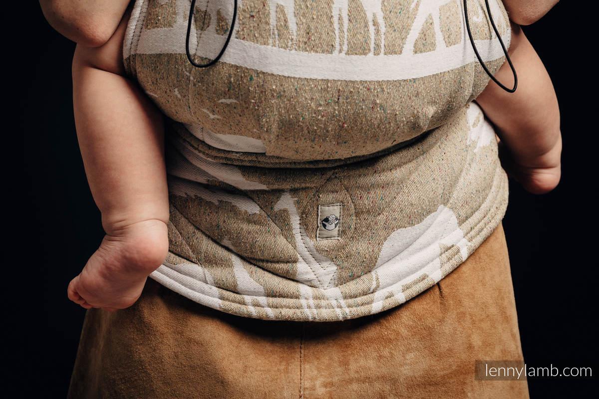 Nosidełko Ergonomiczne z tkaniny żakardowej, (49% bawełna, 51% jedwab), Baby Size - SAFARI - PUSTYNIA ZACHODNIA, Druga Generacja #babywearing