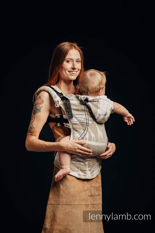 Ergonomic Carrier, Baby Size, jacquard weave, (49% cotton, 51% silk) - wrap conversion from SAFARI - WESTERN DESERT, Second Generation #babywearing
