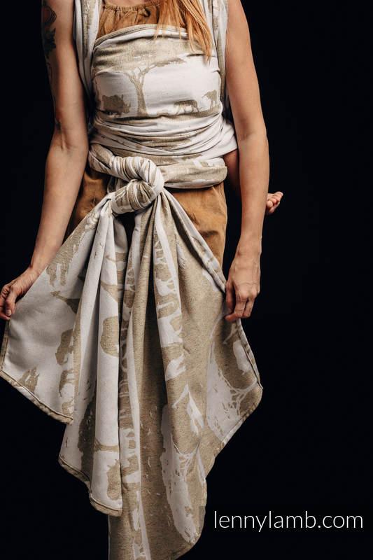 Baby Wrap, Jacquard Weave - (49% cotton, 51% silk) - SAFARI - WESTERN DESERT - size M #babywearing