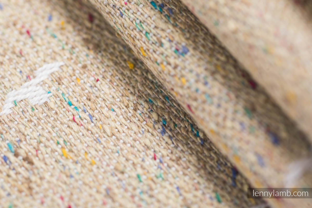 Baby Wrap, Jacquard Weave - (49% cotton, 51% silk) - SAFARI - WESTERN DESERT - size XS #babywearing