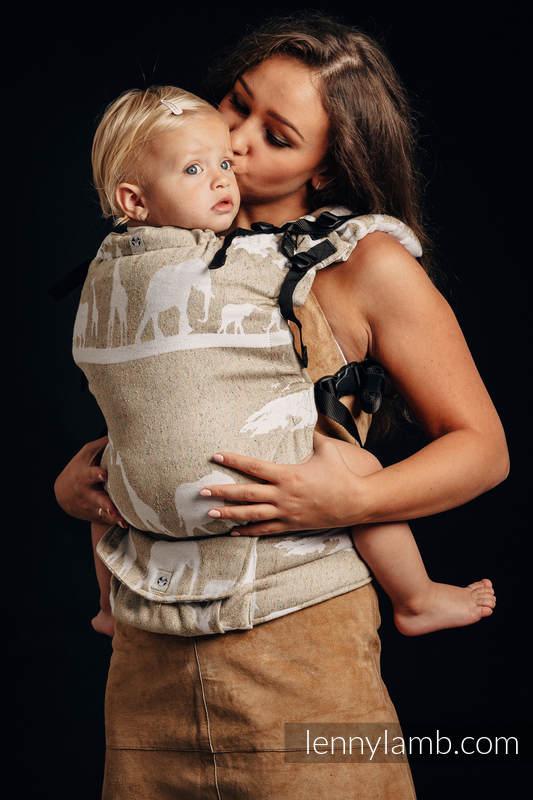 LennyUp Carrier, Standard Size, jacquard weave, (49% cotton, 51% silk) - SAFARI - WESTERN DESERT #babywearing