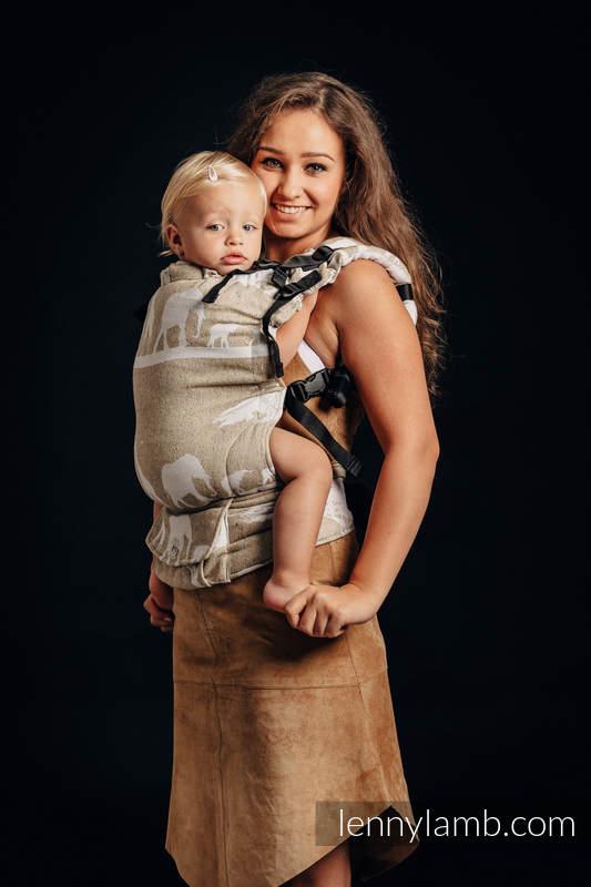 Nosidełko LennyUp z tkaniny żakardowej, rozmiar standard - (49% bawełna, 51% jedwab) - SAFARI - PUSTYNIA ZACHODNIA  #babywearing