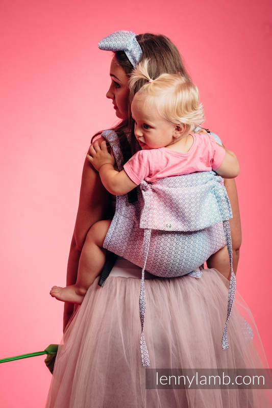 Lenny Buckle Onbuhimo, standard size, Jacquard Weave (60% cotton, 40% bamboo) - LITTLE LOVE - WILDFLOWERS #babywearing