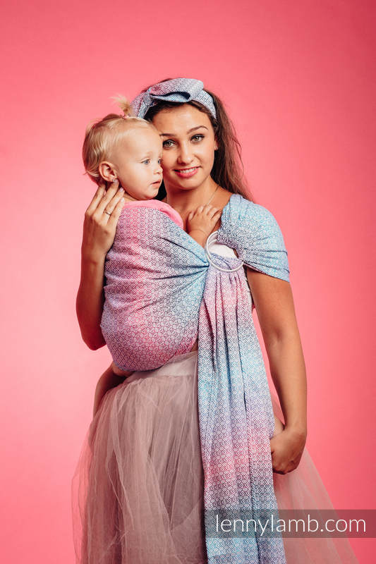 Ringsling, Jacquard Weave (60% cotton, 40% bamboo) - LITTLE LOVE - WILDFLOWERS - long 2.1m #babywearing