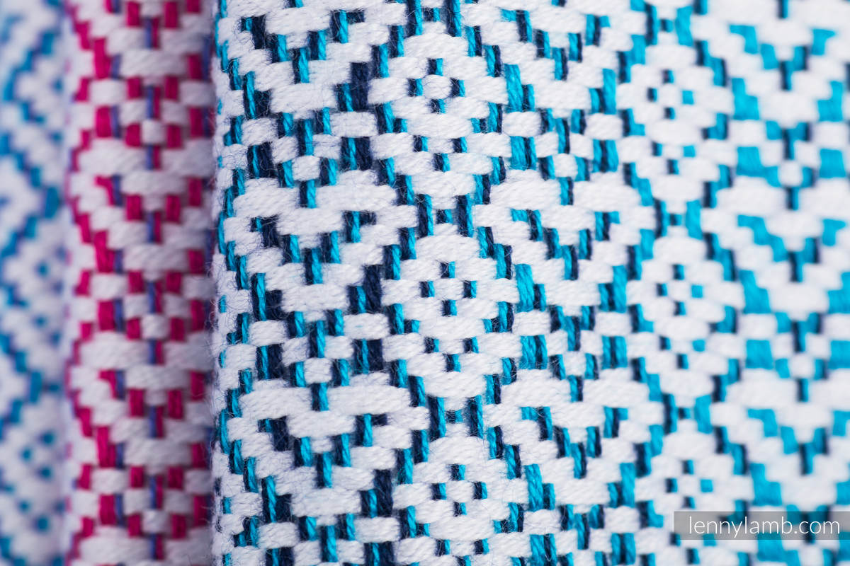Baby Wrap, Jacquard Weave (60% cotton, 40% bamboo) - LITTLE LOVE - WILDFLOWERS - size XS #babywearing