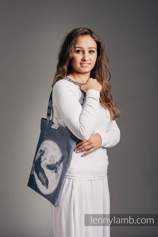 Shopping bag made of wrap fabric (100% cotton) - MOONLIGHT EAGLE  #babywearing