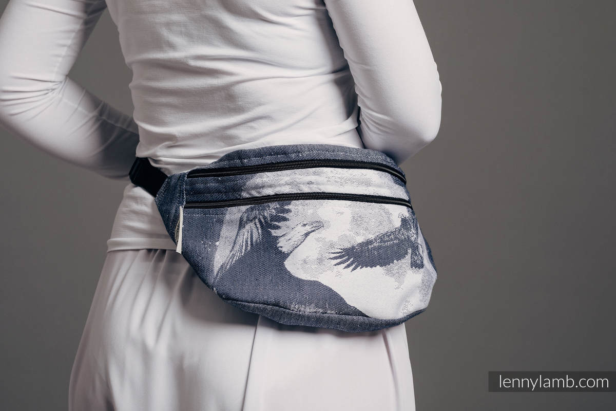 Waist Bag made of woven fabric, size large (100% cotton) - MOONLIGHT EAGLE  #babywearing