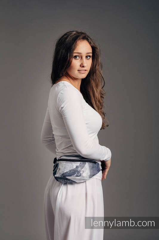 Waist Bag made of woven fabric, (100% cotton) - MOONLIGHT EAGLE  #babywearing