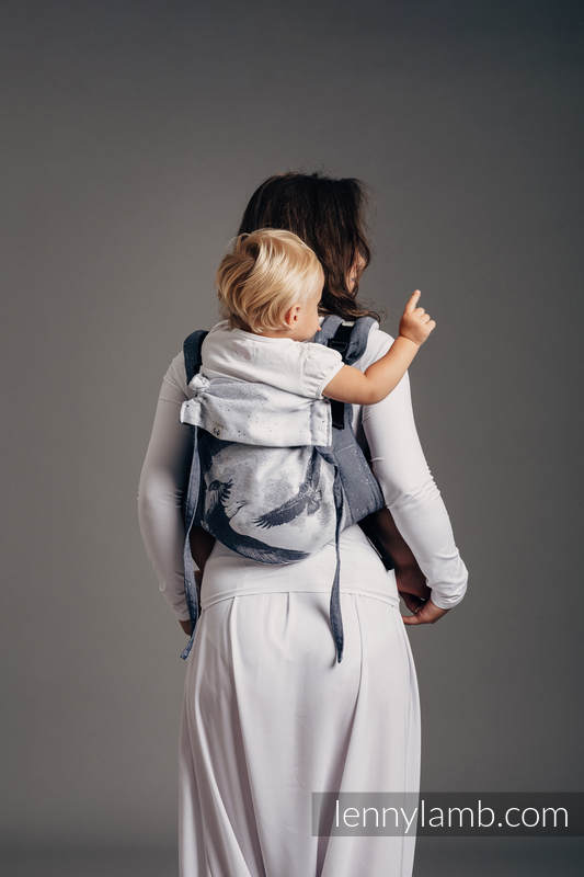 Lenny Buckle Onbuhimo baby carrier, standard size, jacquard weave (100% cotton) - MOONLIGHT EAGLE  #babywearing