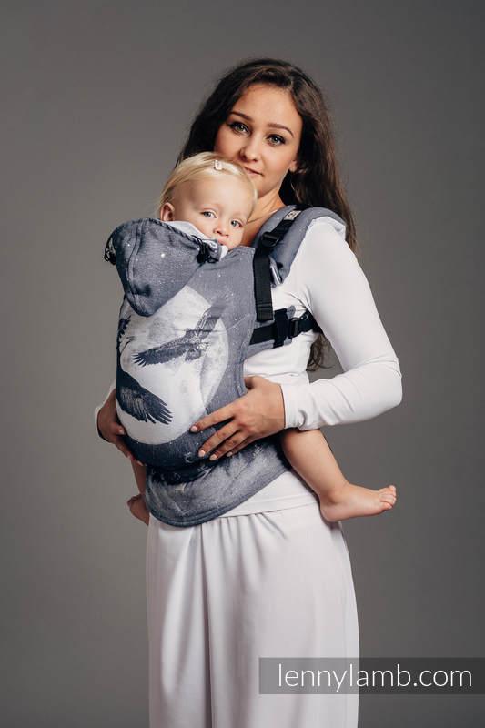 Nosidełko Ergonomiczne z tkaniny żakardowej 100% bawełna , Baby Size, ORZEŁ W ŚWIETLE KSIĘŻYCA - Druga Generacja #babywearing