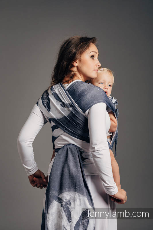 WRAP-TAI carrier Mini with hood/ jacquard twill / 100% cotton /MOONLIGHT EAGLE  (grade B) #babywearing