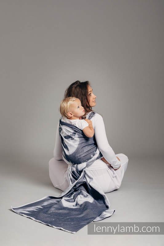 Żakardowa chusta do noszenia dzieci, bawełna - ORZEŁ W ŚWIETLE KSIĘŻYCA - rozmiar S #babywearing