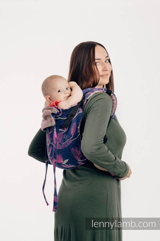 Lenny Buckle Onbuhimo baby carrier, Standard size, jacquard weave (100% cotton) - THE SECRET MAGNOLIA #babywearing