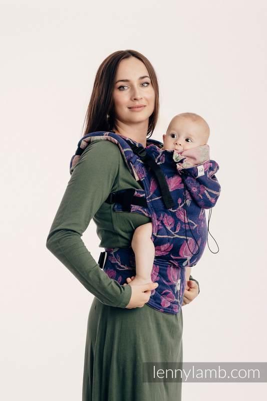 Nosidełko Ergonomiczne z tkaniny żakardowej, 100% bawełna , Baby Size - TAJEMNICZA MAGNOLIA - Druga Generacja (drugi gatunek) #babywearing