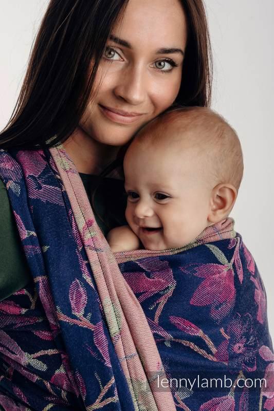 Baby Wrap, Jacquard Weave (100% cotton) - THE SECRET MAGNOLIA - size XS #babywearing