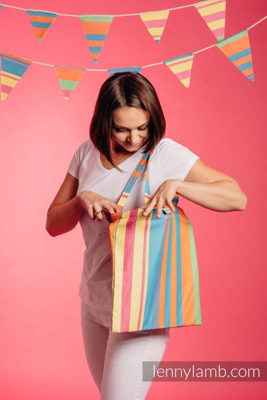 Shopping bag (made of wrap fabric) - Pinacolada #babywearing