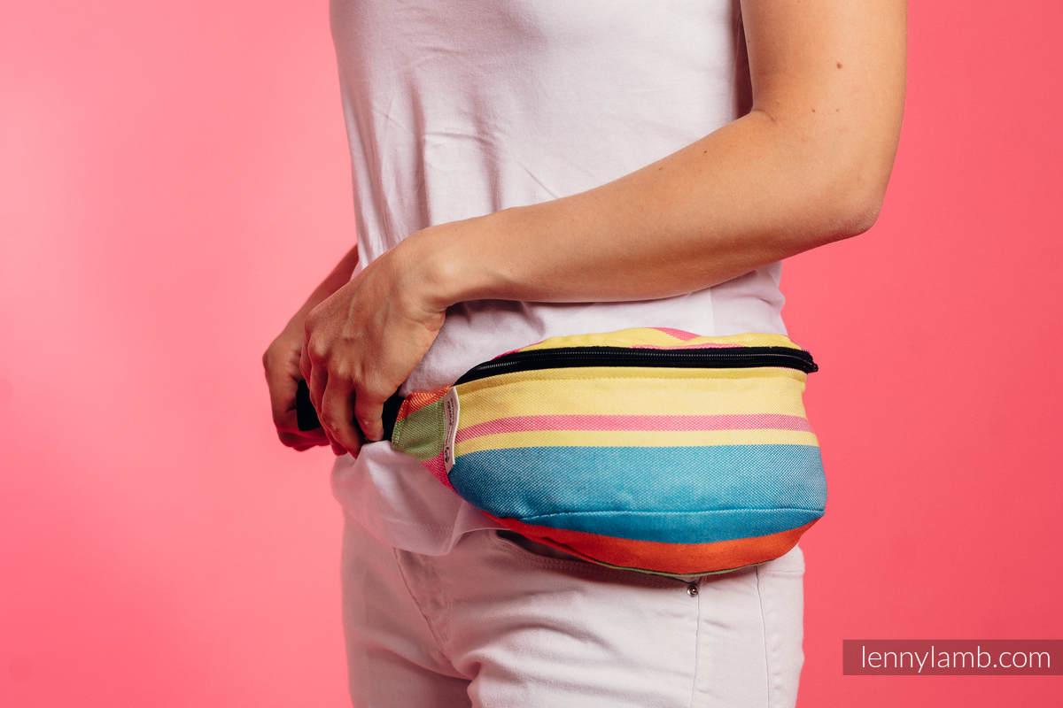 Waist Bag made of woven fabric, (60% cotton, 40% bamboo) - PINACOLADA #babywearing