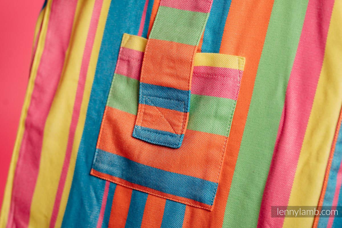 Torba na ramię z materiału chustowego, (60% bawełna, 40% bambus) - PINACOLADA - uniwersalny rozmiar 37cmx37cm #babywearing