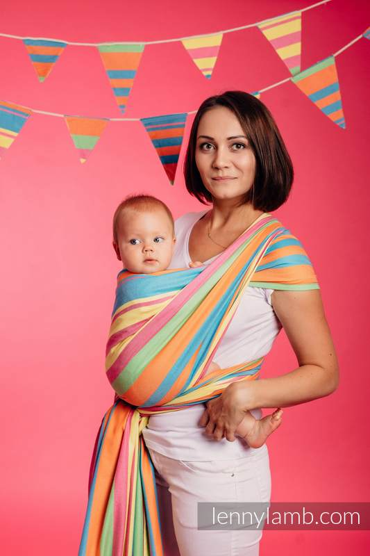 Baby Sling, Broken Twill Weave (bamboo + cotton) - Pinacolada - size XS #babywearing
