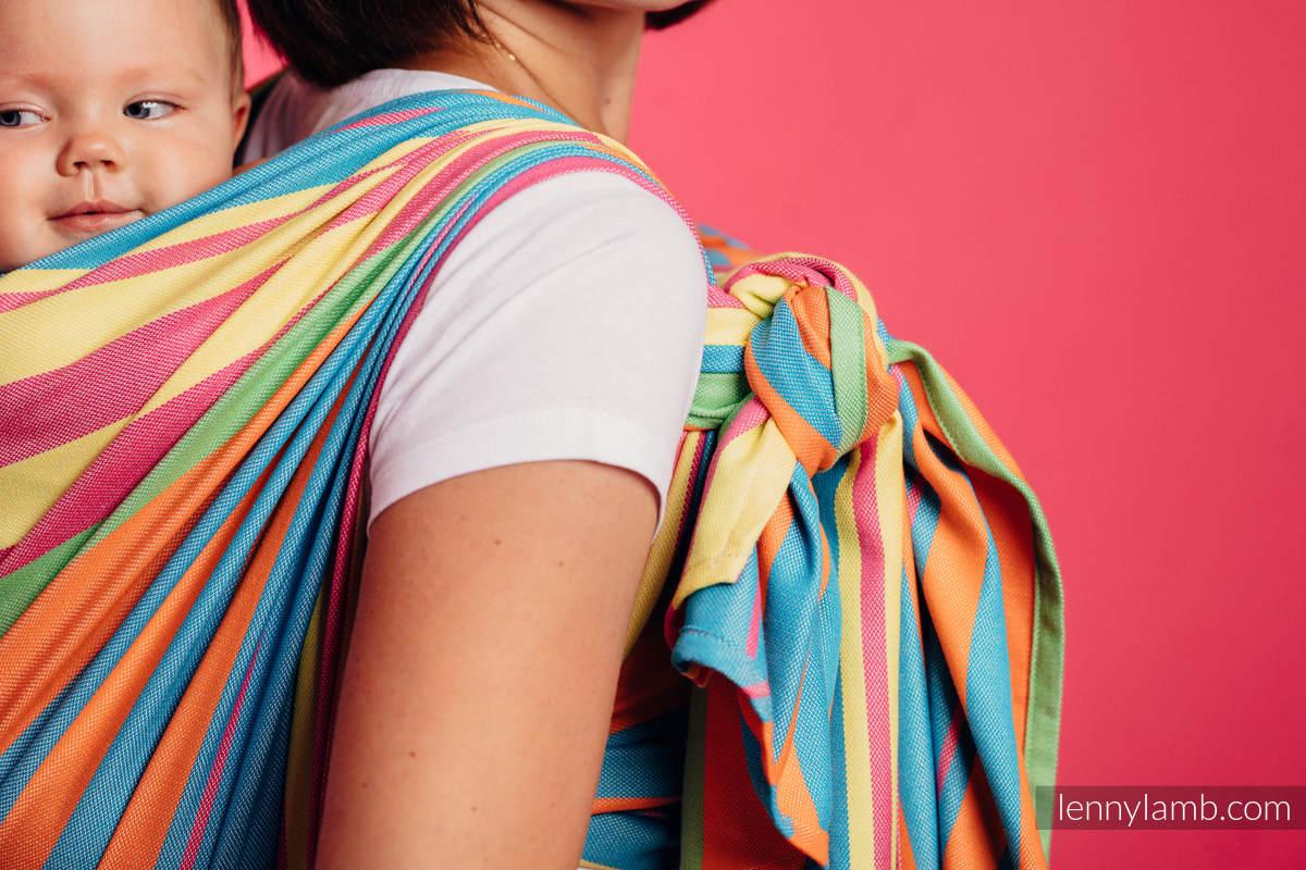 Baby Sling, Broken Twill Weave (bamboo + cotton) - Pinacolada - size S #babywearing