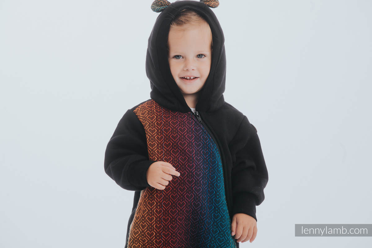 Bear Romper - size 86 - Black & Big Love Rainbow Dark #babywearing