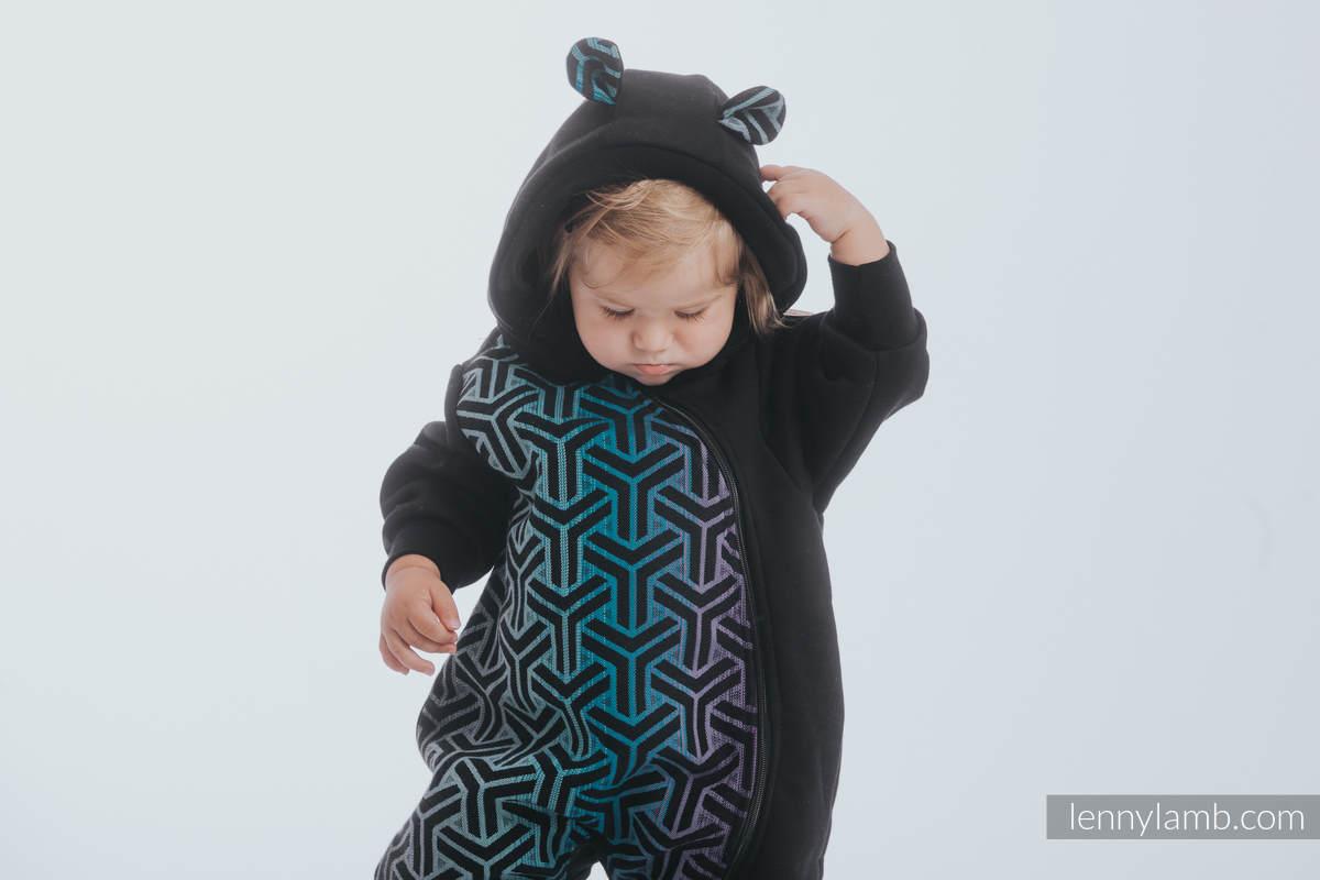 Bear Romper - size 68 - Black & Trinity Cosmos #babywearing