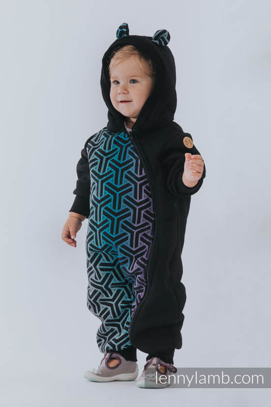 Bear Romper - size 110 - Black & Trinity Cosmos #babywearing
