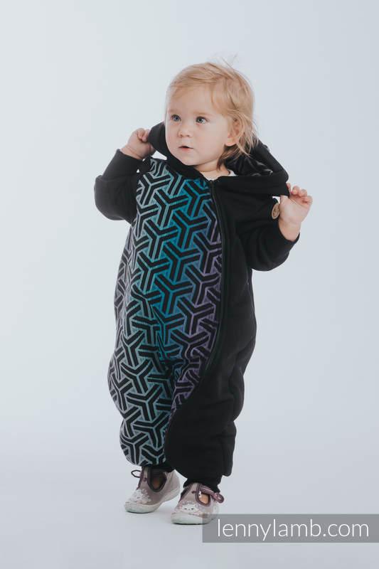 Pajacyk misiowy - rozmiar 110 - Czarny z Trinity Kosmos #babywearing