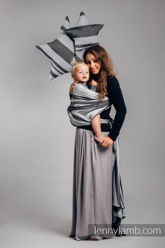 Baby Sling, Broken Twill Weave (bamboo + cotton) - Moon Rock - size XS #babywearing