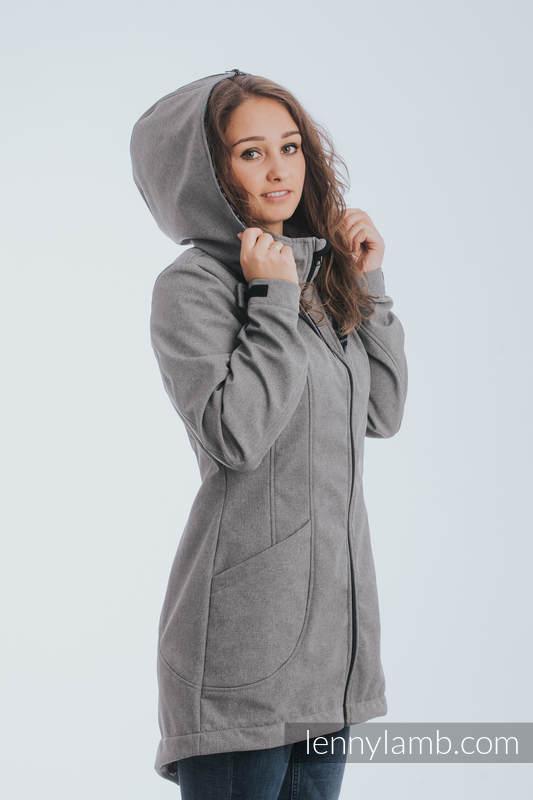 Kurtka do noszenia dzieci - Softshell - Szary Melanż z Trinity Kosmos - rozmiar 4XL #babywearing