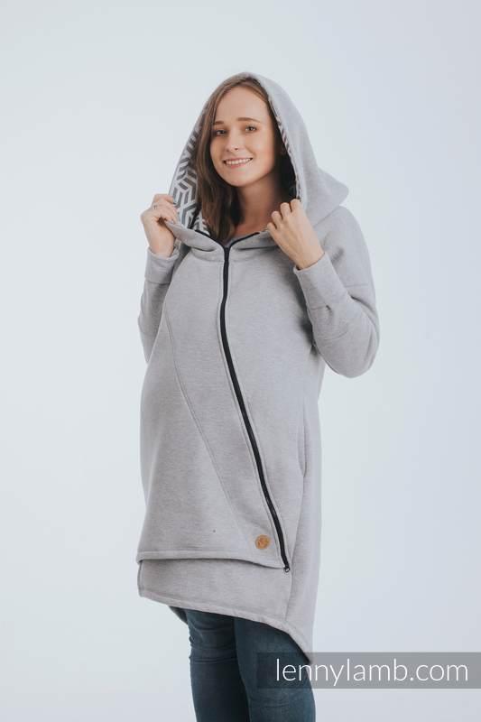 Asymetryczna Bluza - Szary Melanż z Perłą - rozmiar 4XL #babywearing