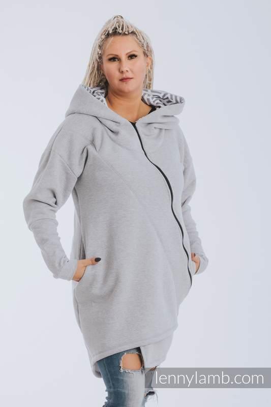 Asymetryczna Bluza - Szary Melanż z Perłą - rozmiar 5XL #babywearing