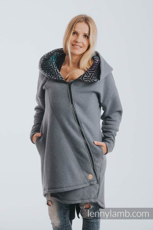 Asymmetrical Hoodie - Jeans with Trinity Cosmos - size S #babywearing