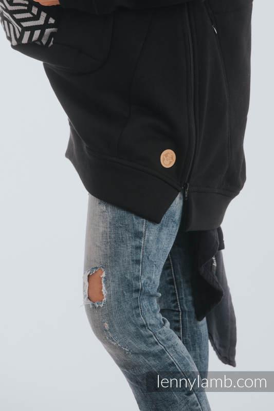 Tragepullover 3.0 - Schwarz mit Hematite - Größe XL #babywearing