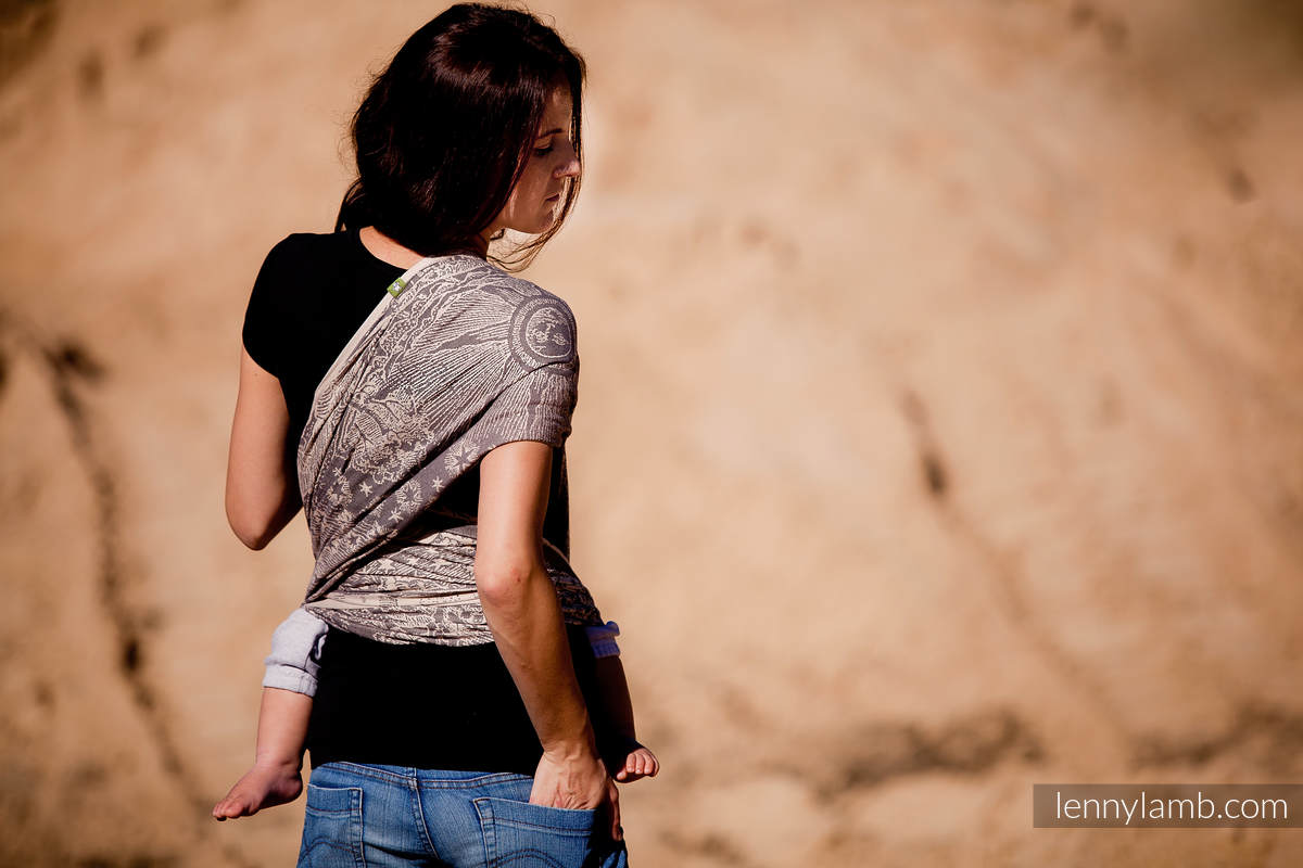Żakardowa chusta do noszenia dzieci, bawełna - Na Krańcu Świata - rozmiar XS #babywearing