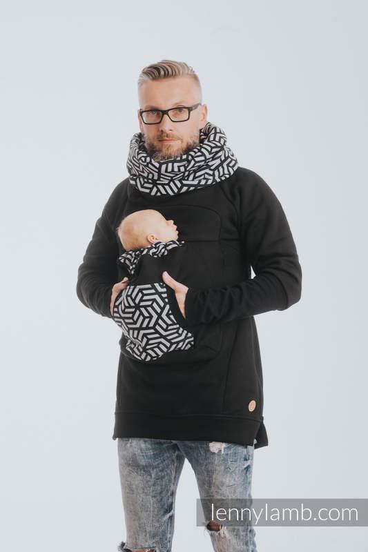 Babywearing Sweatshirt 3.0 - Black with Hematite - size 3XL #babywearing
