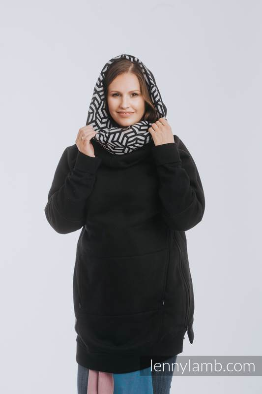 Sudaderas de porteo 3.0 - Negro con Hematite - talla 3XL #babywearing