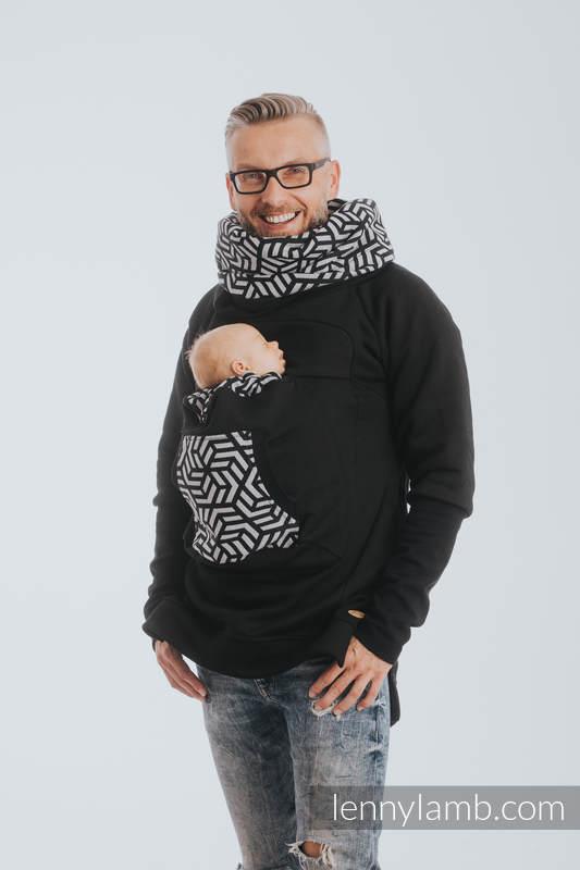 Babywearing Sweatshirt 3.0 - Black with Hematite - size XXL (grade B) #babywearing