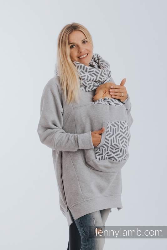Babywearing Sweatshirt 3.0 - Gray Melange with Pearl - size 3XL #babywearing