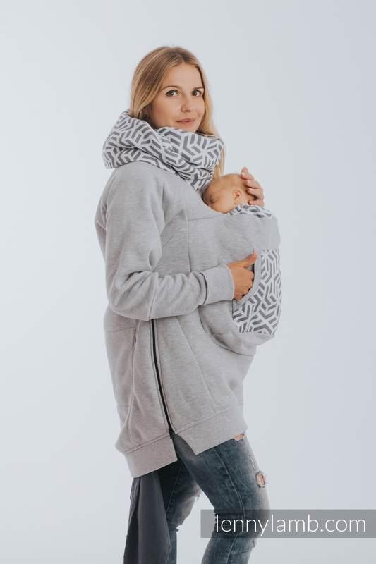 Babywearing Sweatshirt 3.0 - Gray Melange with Pearl - size 4XL #babywearing