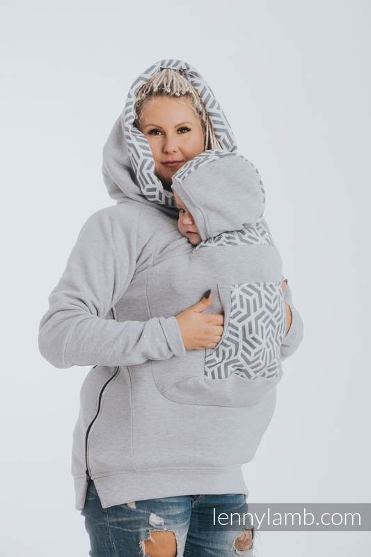 Sudaderas de porteo 3.0 - Mezcla de Grises con Pearl - talla 6XL #babywearing