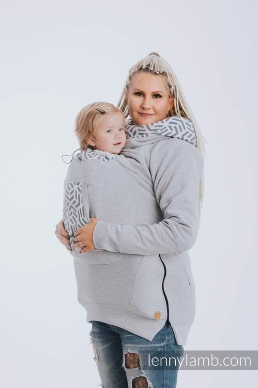 Babywearing Sweatshirt 3.0 - Gray Melange with Pearl - size S #babywearing