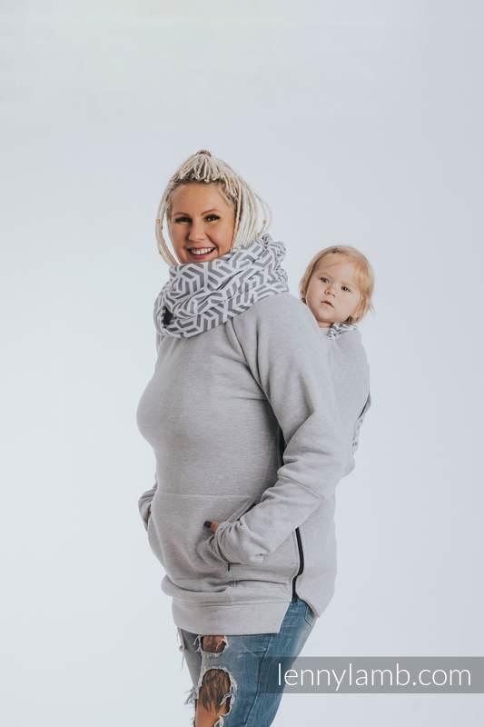Sudaderas de porteo 3.0 - Mezcla de Grises con Pearl - talla 3XL (grado B) #babywearing