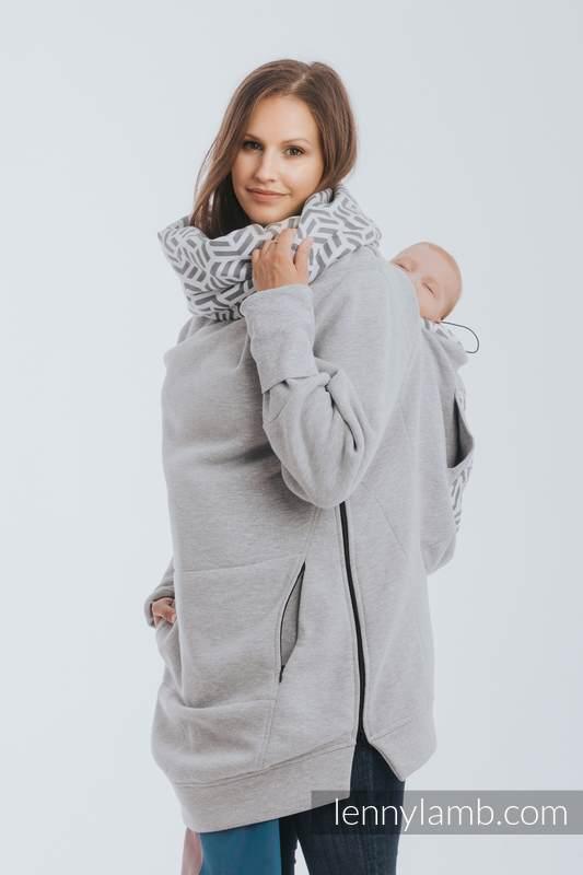 Tragepullover 3.0 - Graue Melange mit Pearl - Größe XL #babywearing